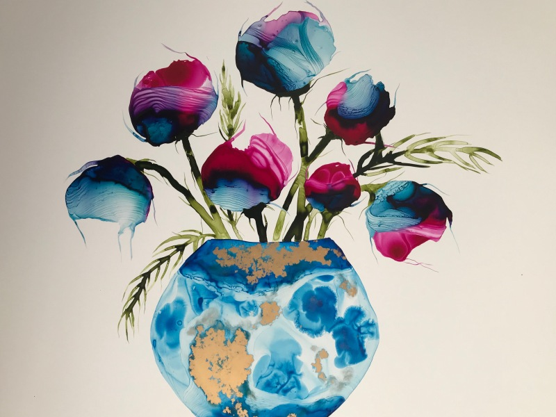 Susan Skelton - Blue vase
